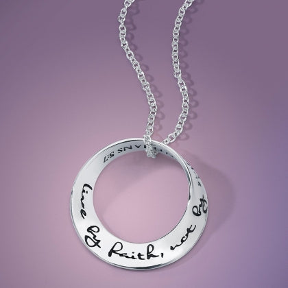 Live By Faith, Not by Sight (Corinthians 5:7) - Mobius Necklace