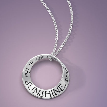 Live in the Sunshine (Emerson) Mobius Necklace