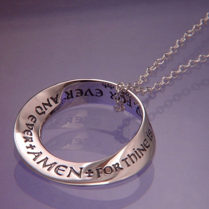 Lord's Prayer Doxology (For Thine is the Kingdom) Mobius Necklace