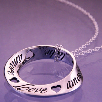 Love in Ten Languages - Mobius Necklace