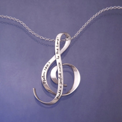 Make A Joyful Noise- G Clef Necklace