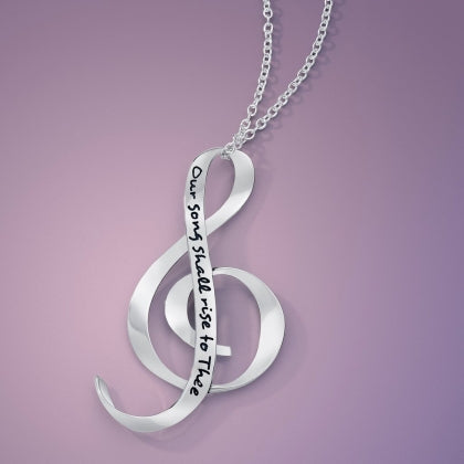 Our Song Shall Rise to Thee - G Clef Necklace