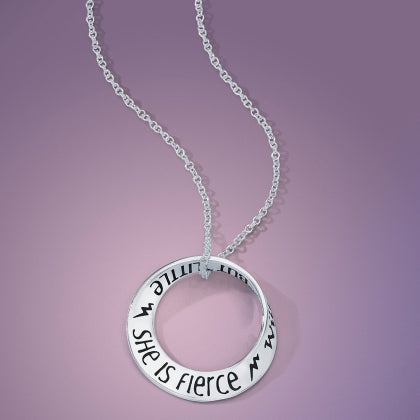 Though She Be But Little, She Is Fierce - Mobius Necklace