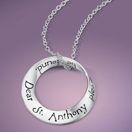 St Anthony's Prayer - Mobius Necklace