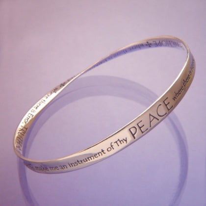 St Francis Prayer of Peace - Mobius Bracelet
