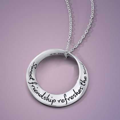 Sweet Friendship Refreshes the Soul - Mobius Necklace