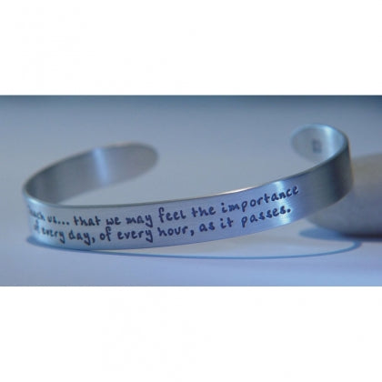 Teach Us That We May Feel the Importance of Every Day - Jane Austen Cuff Bracelet