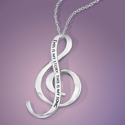 This Is My Story, This Is My Song - G Clef Necklace