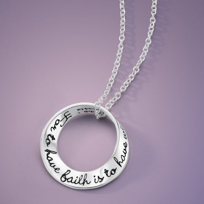 For to Have Faith Is To Have Wings (JM Barrie) - Mobius Necklace