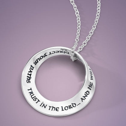 Trust in the Lord Mobius Necklace