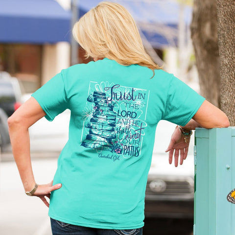 Trust in the Lord & He Shall Direct Your Paths (Proverbs 3:5-6) - Women's T-Shirt