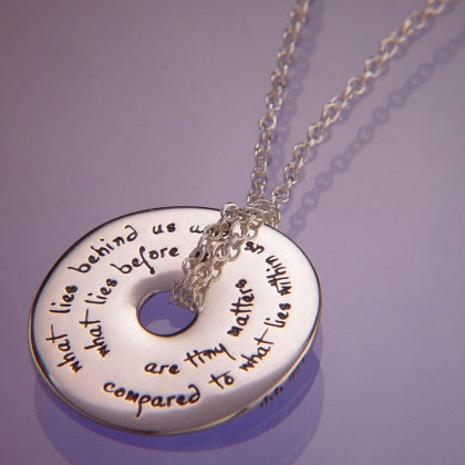 What Lies Within Us (Emerson) - Pi Disc Necklace