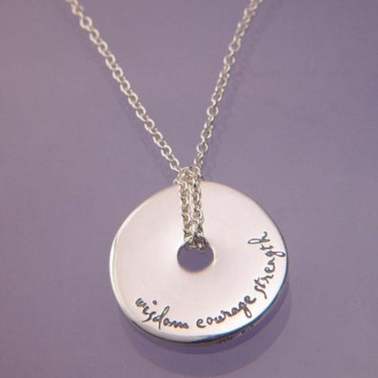 Wisdom, Courage, Strength - Pi Disc Necklace