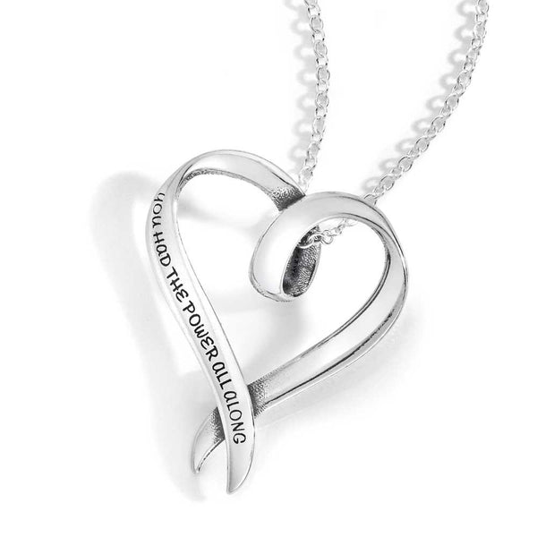 You Had the Power All Along (Glinda the Good Witch) - Heart Necklace
