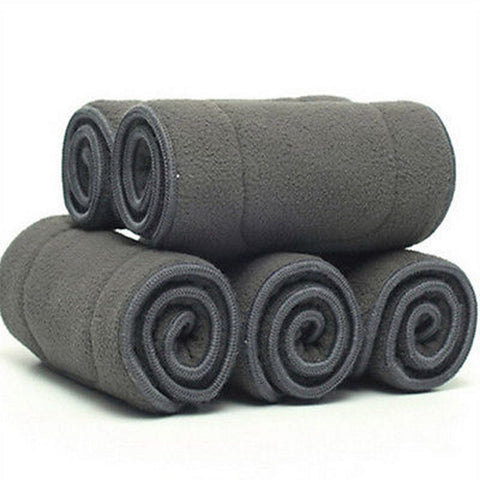 100% Natural Bamboo Charcoal 5 layers Insert Highly Absorbency - Cute Eco Baby