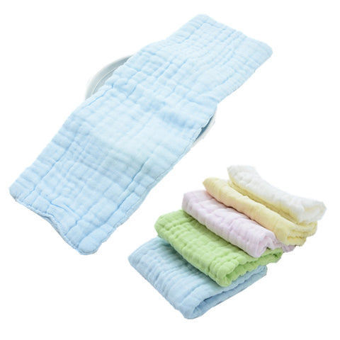 Super absorbent 5pcs 12 layers Natural Cotton Prefold - Cute Eco Baby