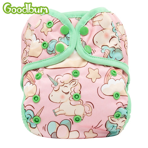 Goodbum Newborn Baby Cloth Diaper Cover - Cute Eco Baby