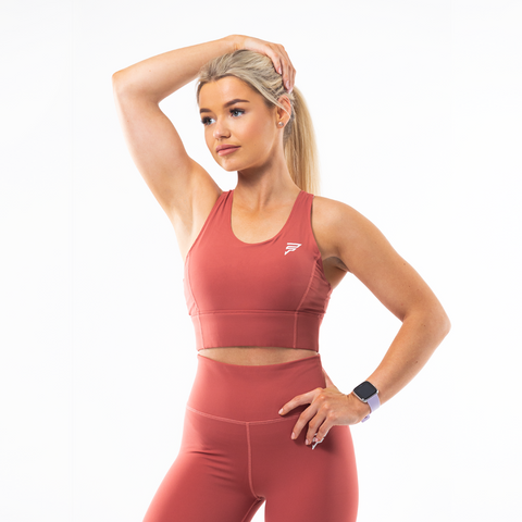 Vibe Sports Bra | Terracotta Red