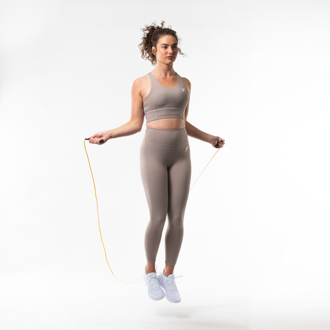 Vibe Sports Bra | Taupe