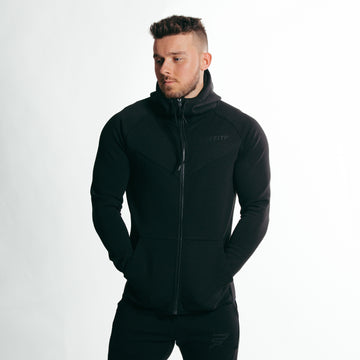 Impulse Zip Up Hoodie | Stealth Black