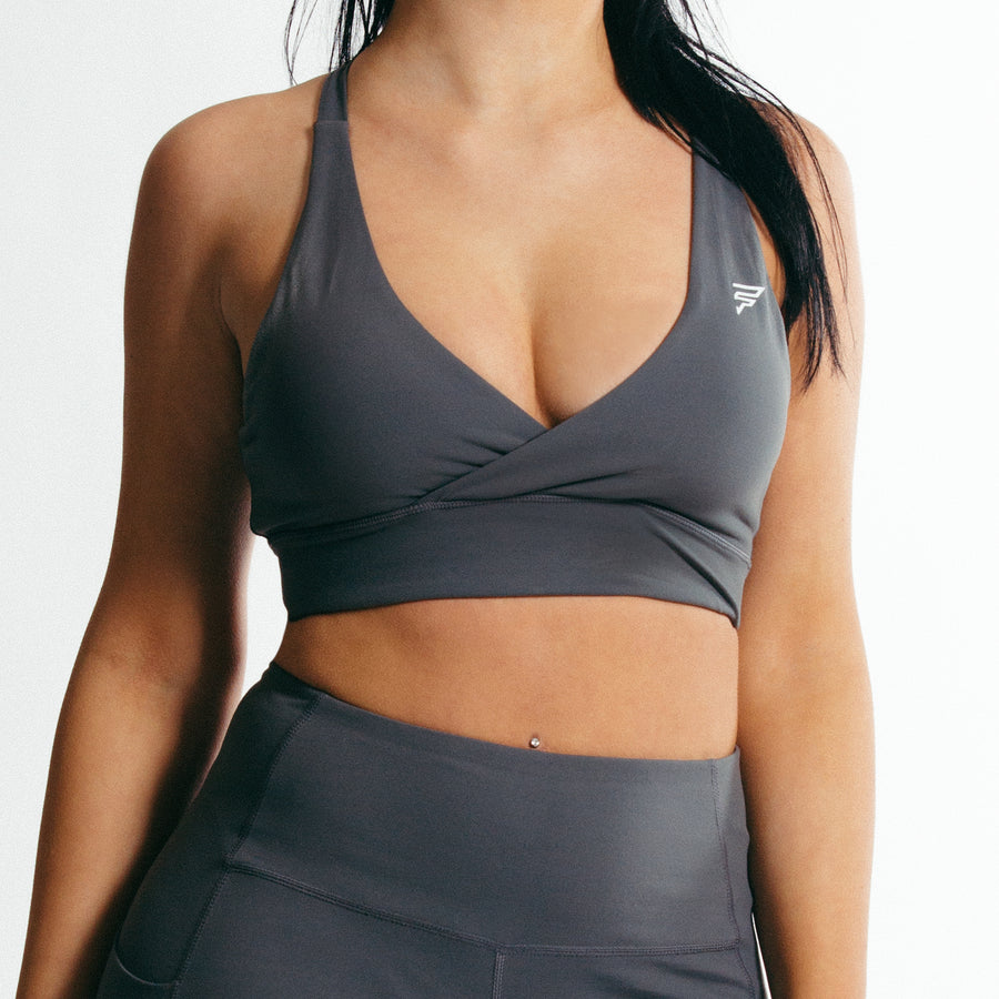 Luna Sports Bra | Pebble Grey