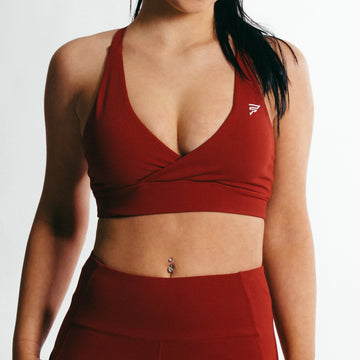 Luna Sports Bra | Love Red