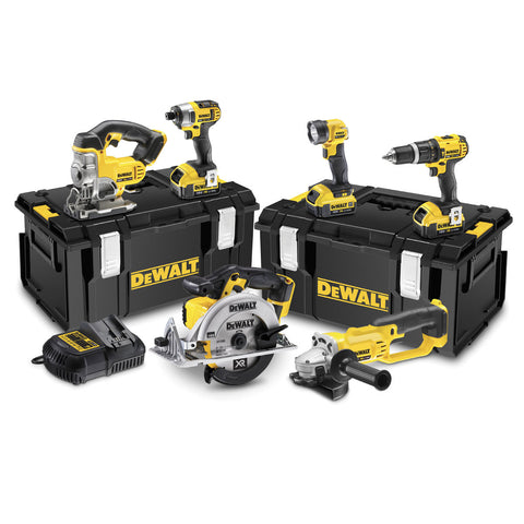 DEWALT DCK691M3-GB 18V 4.0Ah Li-Ion XR 6-Piece Cordless Power Tool Kit - Zimtechtools