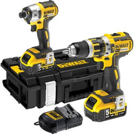 DeWalt DCK255P2 18v XR 5.0Ah Li-ion Brushless Combi Drill  2 Piece Kit - Zimtechtools