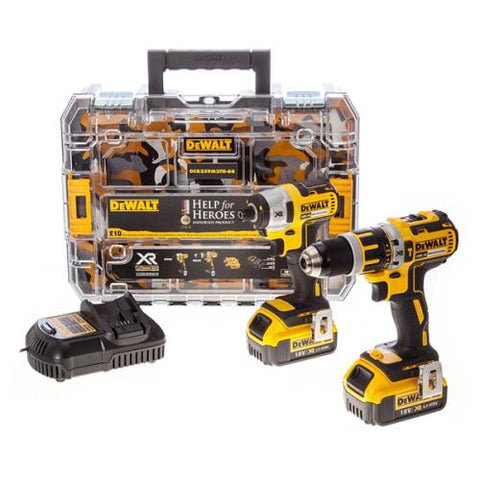DeWalt DCK259M2 Help for Heroes 18V XR Compact Brushless Drill & Impact Driver - Zimtechtools