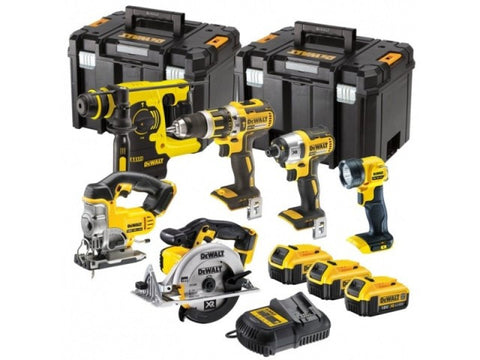 DeWalt DCK699M3T 18v XR Cordless 6 Piece Power Tool Kit inc 3x 4.0Ah Batts - Zimtechtools