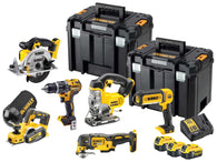 DeWalt DCK665P3T XR 18V Cordless and Brushless Woodworker  6 Piece Kit With 3 x 5.0Ah Batteries - Zimtechtools