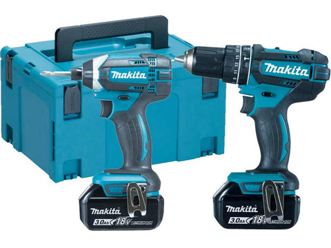 Makita DLX2131JX1 2 Piece Cordless Kit 18V DHP482 + DTD152 -comes with 3 x 3.0Ah Batteries - Zimtechtools