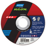 NEON 230X1.9X22.23 TYPE 41 FLAT THIN WHEEL CUTTING DISC 66252842606 Pack of 25 - Zimtechtools