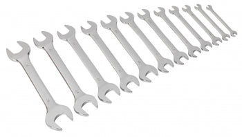SEALEY S0849 Double Open End Spanner Set 12pc Metric - Zimtechtools