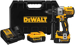 DeWalt DCD991P2-GB 18v XR Brushless Compact Drill Driver with 2x 5.0Ah Batteries - Zimtechtools
