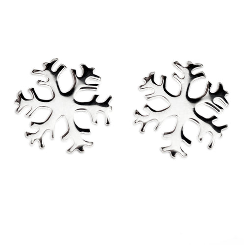 Snowflake stud earring No 1. (Large)