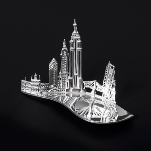 Silver New York Caddy Spoon by Jen Ricketts