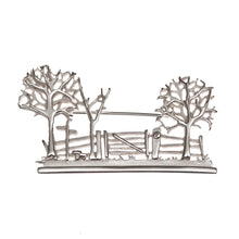 Sterling Silver Countryside Scene Brooch