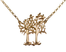 Large Tree Pendant with flying birds