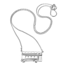 Hand Made Silver Double Decker Bus Necklace by Jen Ricketts