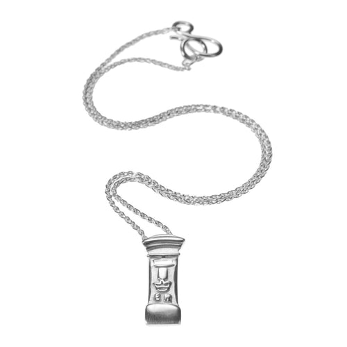 Silver Post Box Necklace by Jen Ricketts