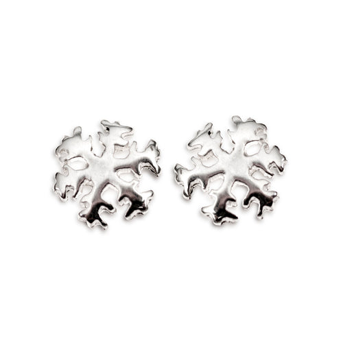 Snowflake stud earring No 2. (miniature)