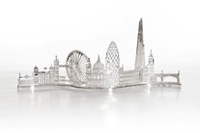 Hand Pierced London Skyline Silver Tea Light Holder
