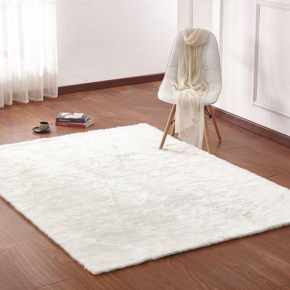 Making a Statement with White Rugs