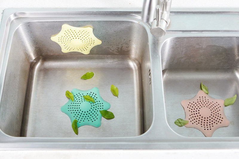 Colorful Shower Drain Sink Strainer Drain Cover (Pack of 3)