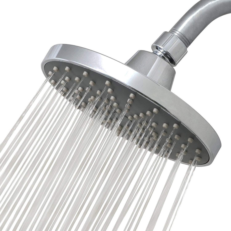 RainLuxe Rainfall Round Shower Head | Chrome Finish | Universal Replacement