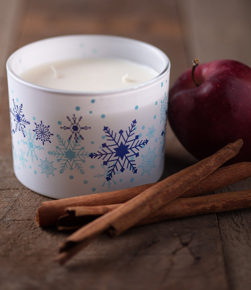 COMFORT Cinnamon Apple Aromatherapy Scented Soy Candle w 3 Wicks