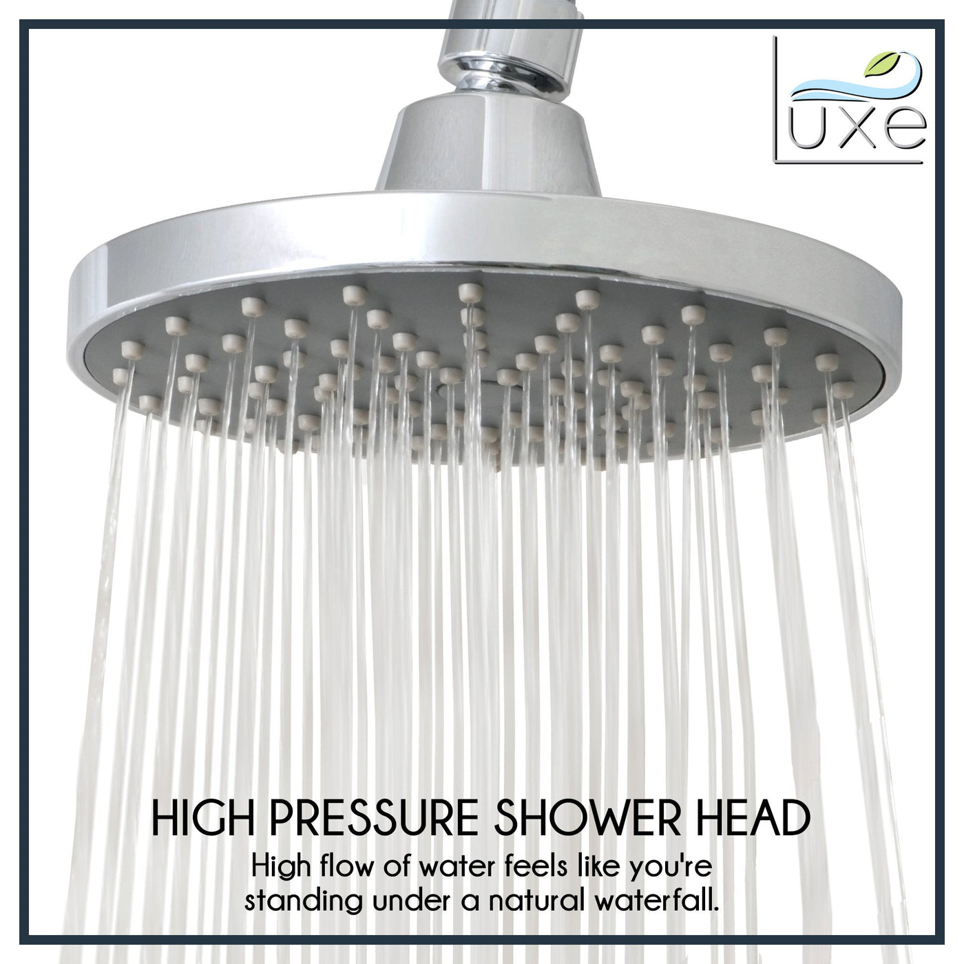 RainLuxe 6 Inch Rainshower Shower Head High Flow Chrome Finish ...