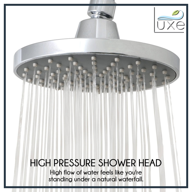 RainLuxe 6 Inch Rainshower Shower Head High Flow Chrome Finish