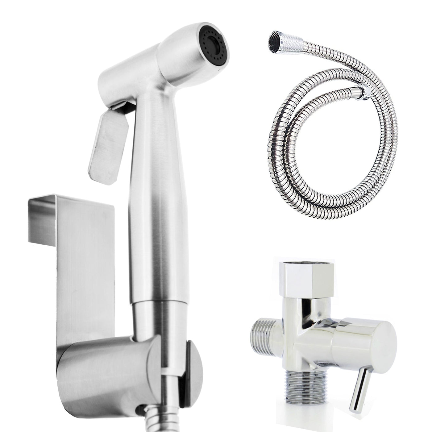 Luxe Spray Bidet Attachment Handheld Kit All Metal Hose and ...